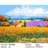 Красочные поля Прованса Раскраска картина по номерам на холсте