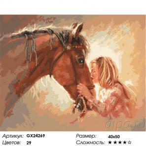 Сложность и количество цветов Любовь к лошадям Раскраска картина по номерам на холсте GX24269
