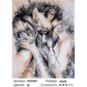 Сложность и количество красок Окрыленные любовью Раскраска картина по номерам на холсте PK41051