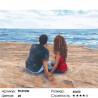 Разговоры у моря Раскраска картина по номерам на холсте