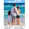 Семья на море Раскраска картина по номерам на холсте