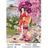Гейша с зонтом Раскраска картина по номерам на холсте