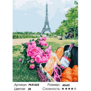 Парижский пикник Раскраска картина по номерам на холсте PK41025