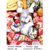 Игривый котик Раскраска картина по номерам на холсте