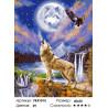 Волк и орел Раскраска картина по номерам на холсте