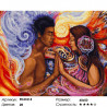 Магия любви Раскраска картина по номерам на холсте