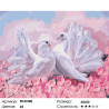 Воркующие голуби Раскраска картина по номерам на холсте