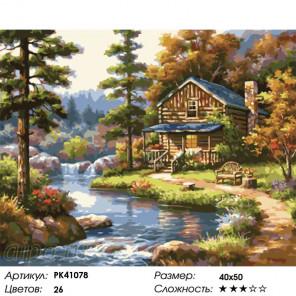 Сложность и количество цветов Лесной домик Раскраска картина по номерам на холсте PK41078