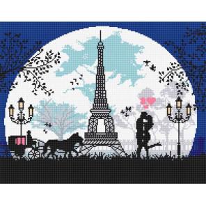 Пример в интерьере Влюбленным в Париж Алмазная вышивка мозаика Алмазное Хобби AH5342