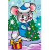 Мышь с елочкой Алмазная вышивка мозаика Алмазное Хобби