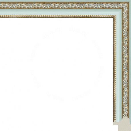 Камерон (голубой) Рамка для картины без подрамника N253