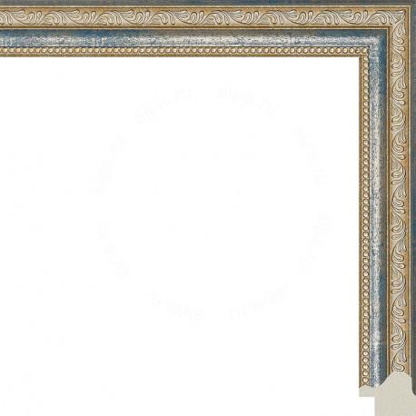 Камерон (синий винтаж) Рамка для картины без подрамника N254