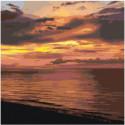 Морской закат Раскраска картина по номерам на холсте