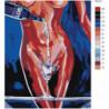 Обнаженная девушка с бокалом 80х100 Раскраска картина по номерам на холсте