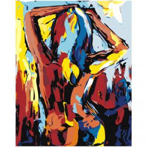 Обнаженная девушка. Абстракционизм Раскраска картина по номерам на холсте