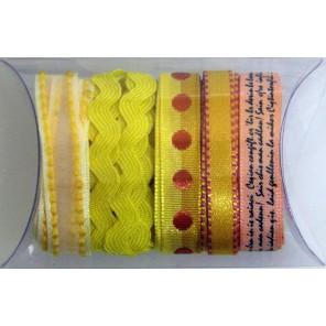 Желтая волна Набор тесьмы декоративной для скрапбукинга, кардмейкинга Рукоделие