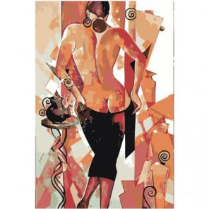 Обнаженная женщина. Экспрессионизм 80х120 Раскраска картина по номерам на холсте
