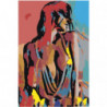 Обнаженная девушка. Абстракция 100х150 Раскраска картина по номерам на холсте