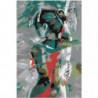 Женская фигура в бирюзовых оттенках 100х150 Раскраска картина по номерам на холсте