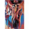 Воздушный поцелуй. Абстракция 100х150 Раскраска картина по номерам на холсте
