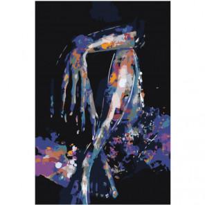 Язык тела женщины. Абстракция. Раскраска картина по номерам на холсте