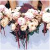 Цветочный букет невесты 80х80 Раскраска картина по номерам на холсте
