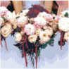 Цветочный букет невесты 100х100 Раскраска картина по номерам на холсте