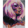 Блондинка в фиолетовых тонах 80х100 Раскраска картина по номерам на холсте
