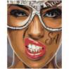 Девушка в очках SA 80х100 Раскраска картина по номерам на холсте