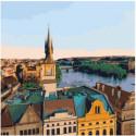 Вид на Прагу Раскраска картина по номерам на холсте