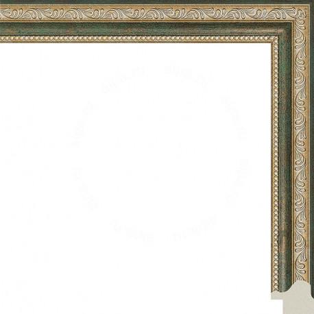 Камерон (зеленый) Рамка для картины на подрамнике N252