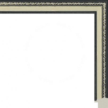 Коричневые переплетения на бежевом Рамка для картины на подрамнике N143