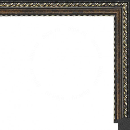 Тёмный орех с золотыми переплетениями Рамка для картины без подрамника N169