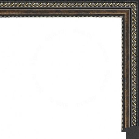 Тёмный орех с золотыми переплетениями Рамка для картины на подрамнике N169