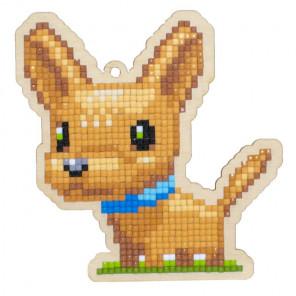 Собачка Чанг Алмазная мозаика подвеска Гранни Wood W0284