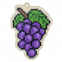 Виноград Алмазная мозаика подвеска Гранни Wood W0165