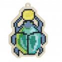 Скарабей Алмазная мозаика подвеска Гранни Wood W0187