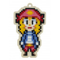 Пиратка Алмазная мозаика подвеска Гранни Wood W0371