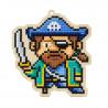 Капитан пиратов Алмазная мозаика подвеска Гранни Wood
