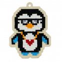 Арктический пингвин Алмазная мозаика подвеска Гранни Wood W0357