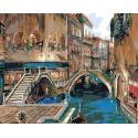 Венецианские мостики Раскраска по номерам акриловыми красками на холсте Живопись по номерам