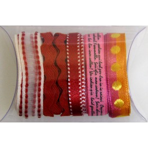 Красно-розовая волна Набор тесьмы декоративной для скрапбукинга, кардмейкинга Рукоделие
