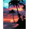 Гавайский закат Раскраска картина по номерам на холсте