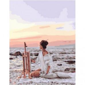 Жизнь у моря Раскраска картина по номерам на холсте