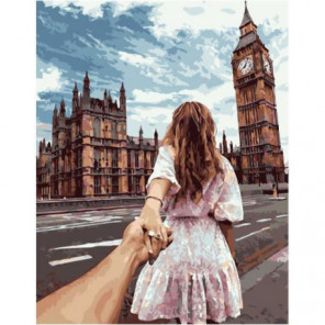 Следуй за мной. Лондон Раскраска картина по номерам на холсте
