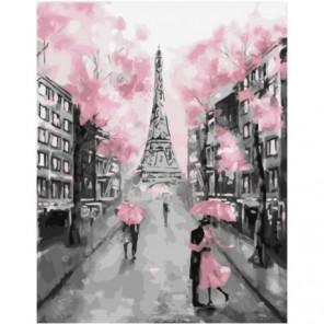 Гламурный Париж Раскраска картина по номерам на холсте