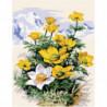 Горные цветы Раскраска картина по номерам на холсте