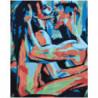 Мужчина и женщина абстракция Раскраска картина по номерам на холсте
