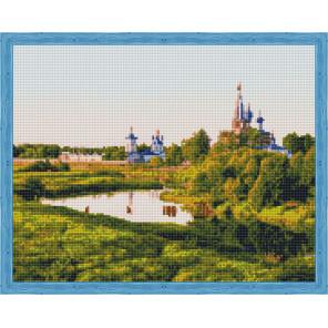 Вид на монастырь Алмазная мозаика на подрамнике QA204013