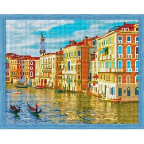 Город на воде Алмазная мозаика на подрамнике QA204019